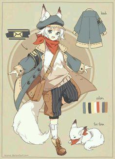 cute little anime boy kid child character design Anime Boys, Anime Child, Anime Fox Boy, Anime Pokemon, Kawaii Anime, Kid Character, Character Concept, Character Costumes, Cute Anime Character