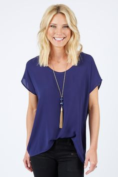 Flynn Chiffon Tee $38 | The #1 boutique for moms! $5 Flate Rate Shipping + FREE shipping on all orders over *$50. #Evereve