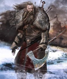 """Our old Viking warrior was about to reach his """"retirement age"""". He was sad and nervous for fear that he could not make it to Valhalla in time. Odin would never accept anyone dying in the bed. Because all the warriors who chanted along the Valhalla had to die in battle. Valhalla Viking, Viking Warrior, Bracelet Viking, Viking Jewelry, Quetzalcoatl Tattoo, Barbarian Dnd, Art Viking, Viking Character, Medieval"""