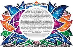 lovely stained-glass style ketubah