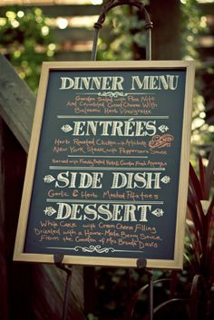 chalkboard menu ideas | Three Creative Wedding Menu Ideas | BridePop