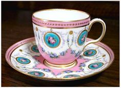 Minton 1860s-From Wiki-originated by Thomas Minton 1793 major ceramics company, partenered with Joseph Poulson added bone china, Poulson died Minton built new china factory 1824, blue transfer Willow pattern very famous, over years new techniques, encaustic tiles (U.S. Capitol floor), majolica, Chinese cloisonne enameling, Japanese laquer, Turkish pottery, Art Nouveau, post 1950s merged with Royal Doulton who was taken over by Waterford Wedgewood in 2005