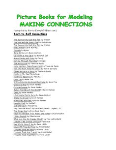 Picture Book List for Modeling Reading Strategies