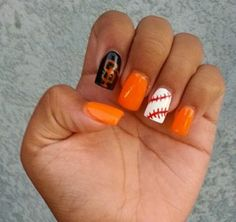 SF Giants. Nails by Jamie | My Nails :) | Pinterest | Sf giants nails