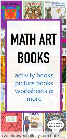 Introduce the beauty of math art to kids with these fantastic books. Includes math art activities and projects, too.