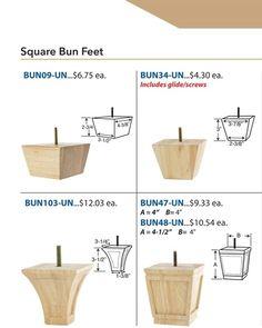 Furniture Legs Bun Feet