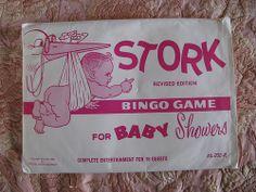 Vintage baby shower game!