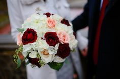 Looking for wedding flower ideas and inspiration? Check out bouquet and boutonniere photos from some of our past Central Park weddings. White Hydrangea Bouquet, Gypsophila Bouquet, Rose Bridal Bouquet, Small Wedding Bouquets, Wedding Flowers, Wedding Dresses, Central Park Weddings, White And Pink Roses, Blush Roses