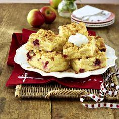 Apfelkuchen vom Blech mit Marzipanguss und Streuseln Rezept   LECKER