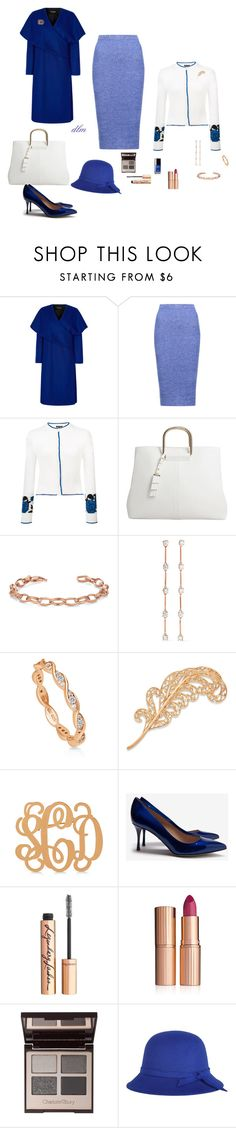 """""""Blue"""" by dmiddleton ❤ liked on Polyvore featuring Paper London, Alice + Olivia, Sophie Theallet, MANGO, Anita Ko, BERRICLE, Allurez, Sergio Rossi and Charlotte Tilbury"""