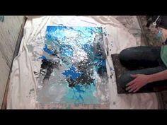 Abstrakte Malerei Full HD Sony Alpha 6000, Abstract Art Painting Demonstration, Acrylmalerei - YouTube
