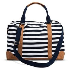 Women's Striped Weekender Handbag - Navy/White. This one's at Target. I like the classic, preppy, nautical look.