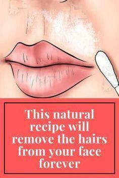 Natural Facial Hair Removal, Chin Hair Removal, Hair Remedies, Health Remedies, Natural Remedies, Face Skin Care, Health And Beauty Tips, Natural Recipe, Skin Treatments