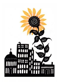 Sunflower City by Alison Sileo on Etsy