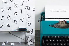 I love the thought of having a type writer at the front door to write notes to each other