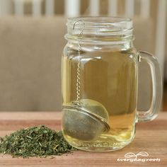 Nettle Tea... helps relieve joint pain...You will need… -1 cup of fresh nettle leaves OR 1 teaspoon dried if you can't locate a fresh plant -2 cups of fresh water -A pot -If gathering yourself, long sleeves, jeans, gloves, and scissors -Cinnamon and/or honey (optional)