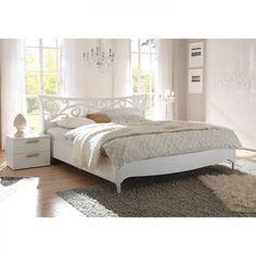 Doppelbett Ambrosia - Hochglanz Weiß - 160 x 200cm - Ohne Beleuchtung