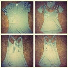 Old T-Shirts Refashion. Cut Up Shirts, Tie Dye Shirts, Old T Shirts, T Shirt Yarn, T Shirt Diy, Diy Old Tshirts, Diy Vetement, Diy Mode, Do It Yourself Fashion