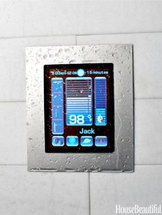 Personalize shower time with this tablet-like, full-color digital touch screen. Luxury Shower System from Watermark Designs.