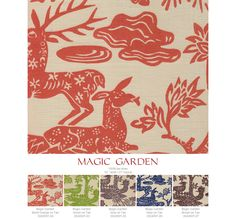 Quadrille Magic Garden in Navy on Tan for DR curtains.