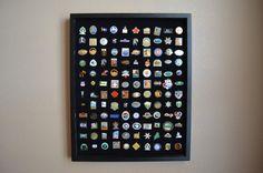 120 Pin 16x20 Display by LapelPinDisplayCase on Etsy