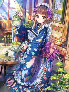 Được nhúng Cute Anime Chibi, Chica Anime Manga, Anime Girl Cute, Beautiful Anime Girl, Anime Art Girl, Anime Girls, Anime Girl Kimono, Anime Angel Girl, Manga Girl