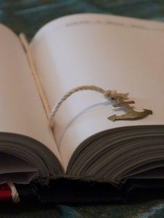 diary in navy style & alpaca anchor/ημερολόγιο σε ναυτικό στυλ & άγκυρα από αλπακά