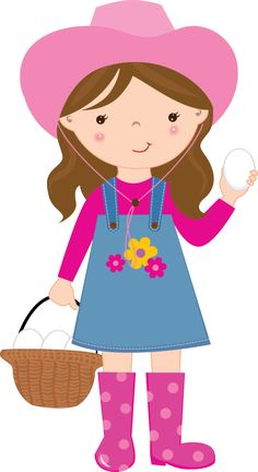 Cute Farm for Girls Clip Art. Girl Clipart, Cute Clipart, Free Machine Embroidery Designs, Embroidery Applique, Girls Clips, Cowgirl Party, Clip Art, Farm Birthday, Farm Party