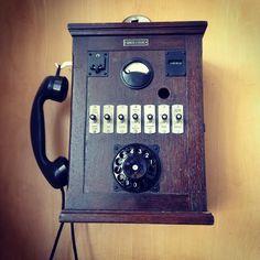 vintage public phone