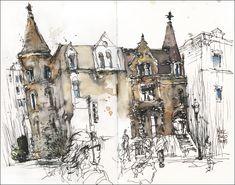 travelling sketch artist, marc holmes, travel art
