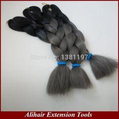 Black+dark grey, 20inch folded, 100grams per pack mike@harmonyhair.cn