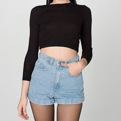 American Apparel High Waisted Shorts American Apparel high waisted Jean shorts. Brand new, never worn, NWOT. American Apparel Jeans