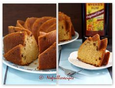 A moist and slightly dense bundt cake full of aromatic flavour. Rum Cake, Pound Cake, Raisin, No Bake Cake, Cornbread, Corner, Cakes, Tea, Baking