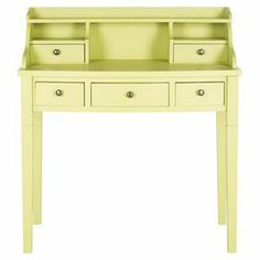 "Pen love letters or scrapbook in style with this charming writing desk, showcasing 5 drawers and 3 open compartments.    Product: DeskConstruction Material: Pine and MDFColor: Avocado Dimensions: 40.5"" H x 36.2"" W x 19.1"" D"