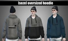 Oversized hoodie at Seze • Sims 4 Updates