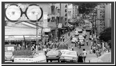 1982 - Rua Nossa Senhora da Lapa vista a partir do Viaduto da Lapa.