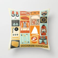 Moonrise Kingdom Throw Pillow by Andrea Lauren