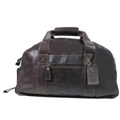 Fine Leather Travel Weekend Gym Bag / Gym Buddy: Amazon.co.uk: Shoes & Accessories