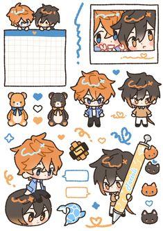 Anime Stickers, Cute Stickers, Anime Chibi, Anime Art, Bakugou Manga, Japon Illustration, Bullet Journal Aesthetic, Phone Themes, Albedo