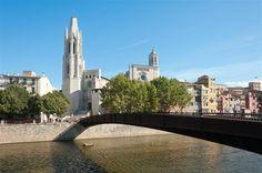 24 Stunden in Girona. Die Altstadt von #Girona kann man bequem zu Fuss erkunden. Girona, Katalonien, Spanien.
