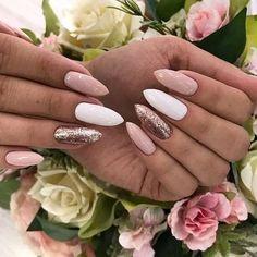 Perfect Nails, Gorgeous Nails, Pretty Nails, White Nail Designs, Nail Art Designs, Nails Design, Design Art, Design Ideas, Long Nails