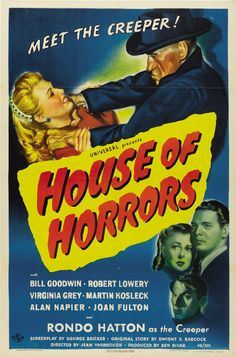 POSTER - HOUSE OF HORRORS - House of Horrors; 1946; Jean Yarbrough; Rondo Hatton; Robert Lowery; Virginia Grey; Bill Goodwin; Martin Kosleck; Alan Napier; Joan Fulton;