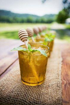 1) Love the honey dipper swizzle sticks  2) Honey Apple Crisp- 2 parts Barenjager Honey Liqueur and 4 parts apple juice! Yummm
