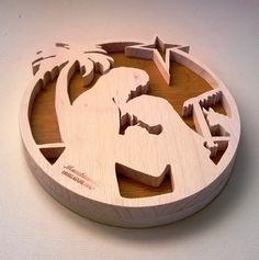 Presepe scena natività in legno Sacra di MacchiavelliArtLegno