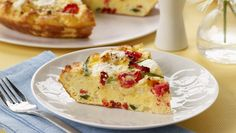 Lidia Bastianich's Tomato, Pepper, Bread  Ricotta Frittata | Dashrecipes.com (A friend brought this to work yesterday and it was tasty!)