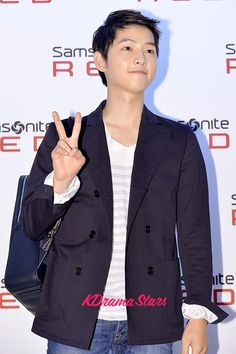 Song Joong Ki Semi-Formal Look at Samsonite ‪#‎RED‬ Launching Event - Aug 8, 2013