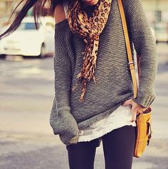 I'm 90% sure I've already pinned this, but I can't wait for scarves and slouchy sweaters