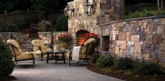 See outdoor patio ideas, hardscape design ideas, and outdoor living space ideas with inspiration and pictures of creative paver project ideas by Belgard. Outdoor Living Furniture, Outdoor Rooms, Outdoor Dining, Outdoor Kitchens, Indoor Outdoor, Fire Pit Art, Fire Pits, Contemporary Patio, Traditional Fireplace