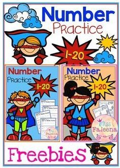 This bundle includes 40 pages number practice worksheets. This product is great for pre-k, kindergarten and first grade students. It will help children to master numbers from 1 to 20 in a many different ways. Kindergarten Math Worksheets, Kindergarten Lesson Plans, Math Resources, Teaching Math, Learning Activities, Preschool Activities, Kindergarten Teachers, Number Activities, Maths