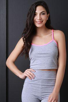 Jersey Knit Cami Crop Top
